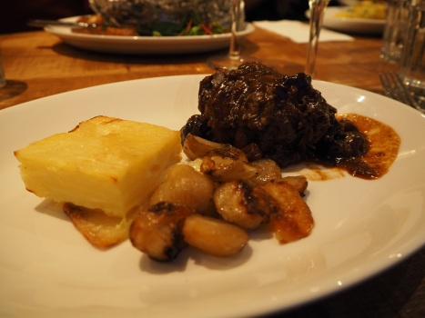 Braised beef with potatoes Dauphinoise - the meat was falling apart on the plate
