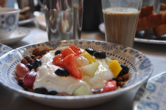 Granola and chai at Dishoom