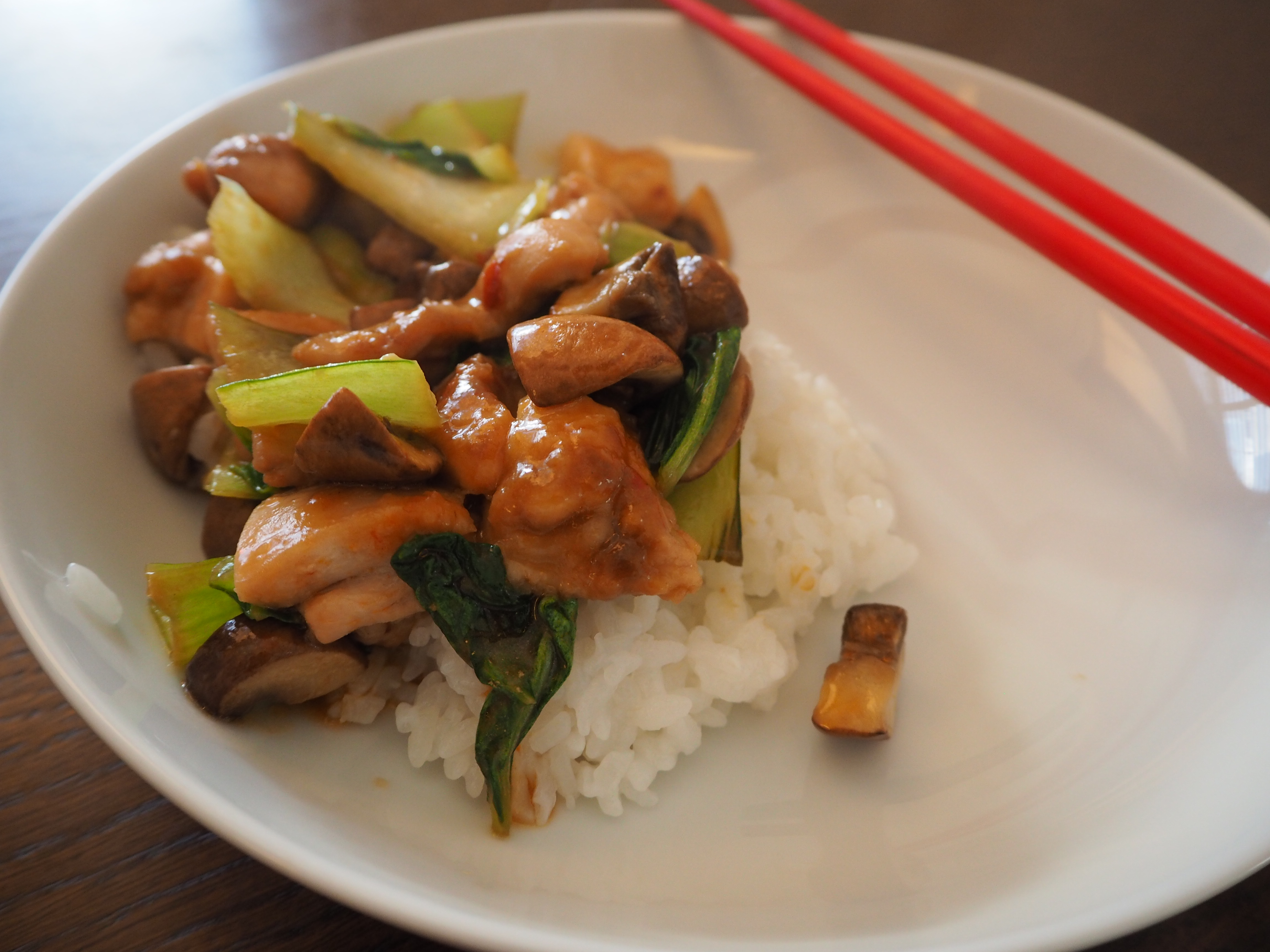 Stir-fried chicken and pak choi in oyster sauce | The Swindian