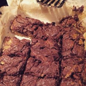 Nutella and banana brownies