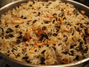 Persian bejewelled rice, as part of the Weekend of Food 2015