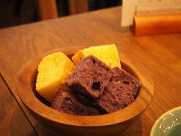 Cornbread and... purple bread