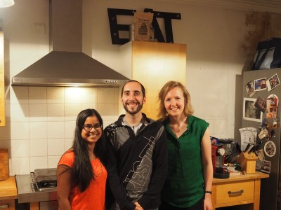With Dani and Fleur, founder of Nomadic Chefs